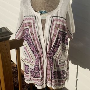 Anthropologie Moth Paisley Lightweight Knit Top